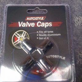 Aluminium Valve Caps 4 Pack – Black – AVCBLK