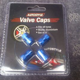 Aluminium Valve Caps 4 Pack – Blue – AVCBLU