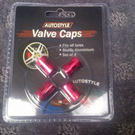 Aluminium Valve Caps 4 Pack – Red – AVCD