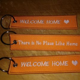 Key Ring -Welcome Home/There is No Place Like home